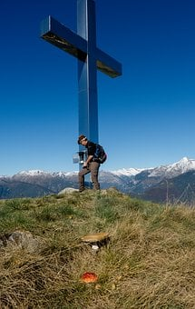 Summit Cross, Summit Book, Wanderer, Ticino