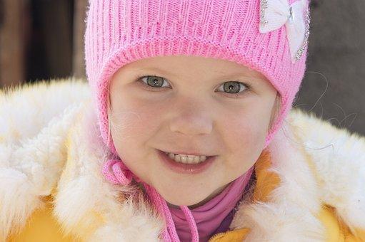 Girl, Small, Smile, Portrait, Closeup, The Little Girl