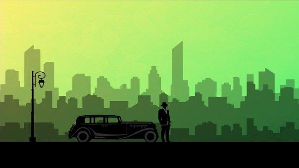 Car, 20th Century, Light, Transportation, Saturated