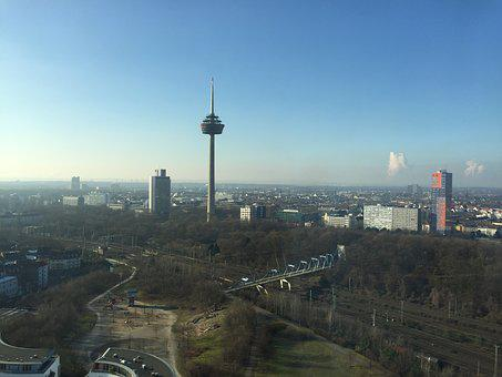 Cologne, Media Park, Radio Tower, View, Landscape