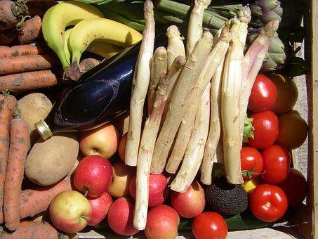 Basket, Fruit, Asparagus, Apples, Power, Food