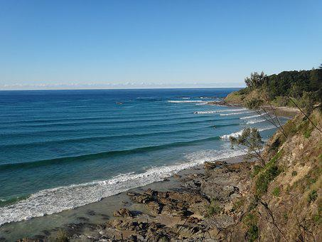 Sea, Wave, Australia, Water, Blue, Horizon, Surf