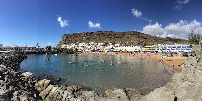 Gran Canaria, Puerto De Mogan, Beach, Village, Ocean