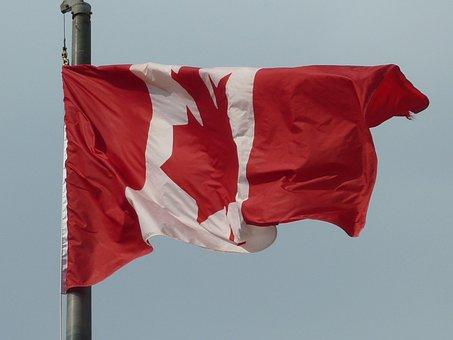 Canada, Flag, Flag Fluttering