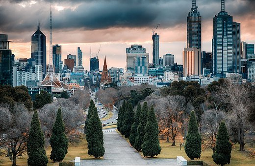 Melbourne, Skyscrapers, Architecture, Australia, City