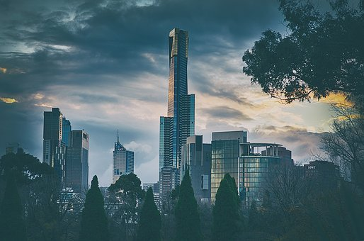 Melbourne, City, Cityscape, Tower, Sky, Skyscraper