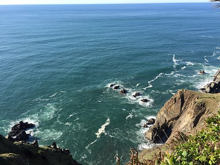 Pacific Ocean, Oregon, Sea, Coast, Pacific, Water