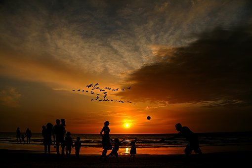 Beach, Families, Children, Human, Holiday, Holidays