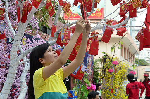 Holyday, Vacation, Tet Holyday, New Year, Lunar, Red