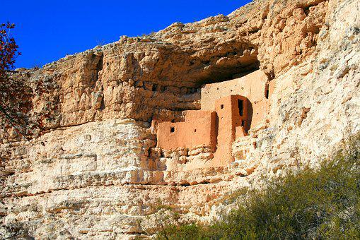 Arizona, Montezuma Castle, Indian, Monument, Desert