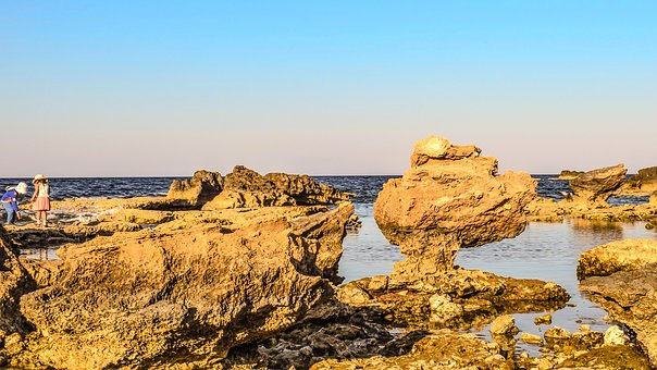 Rock, Rock Formation, Erosion, Landscape, Beach