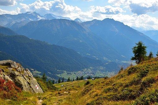 Trail, Mountains, Landscape, Nature, Trees, Stone, Lane