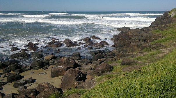 Mar, Stones, Water, Beach, Rocks, Nature, Brazil
