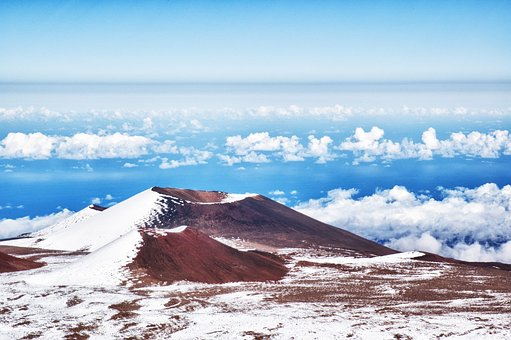 Mountain, Hawaii, Mauna Kea, Summit, Island, Nature