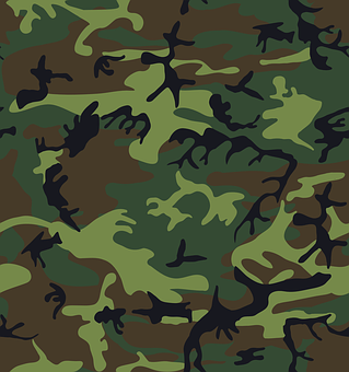Camouflage, Green, Brown, Black, Patterns, Military