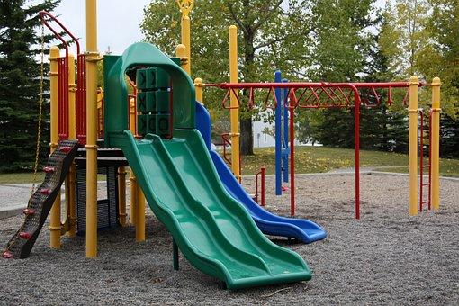 Playground, Empty, Lonely, Quiet, Nobody, Outdoor, Park