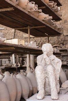 Pompeii, Pompei, Plaster Casts, Excavation