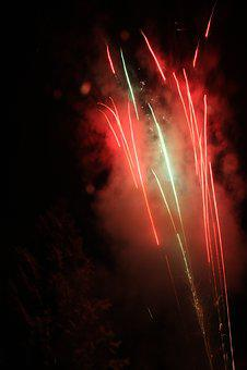 Fireworks, Night, Burst, Pyrotechnics