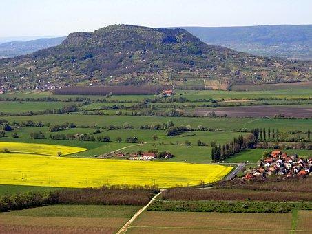 Remnant Hill, Balaton Uplands, Scape, Panorama, Rape