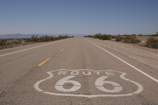 Route 66, Road, 66, Route, Highway, Sign, America, Usa