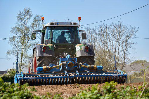 Agricultural Work, Tractor, Agriculture, Sow, Plowing