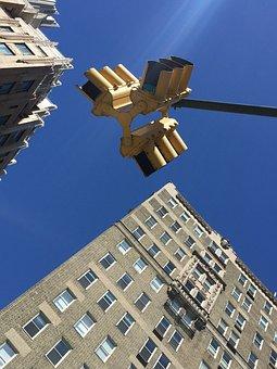 New York City, Fire, Sky, Street, Against Dove, Spring