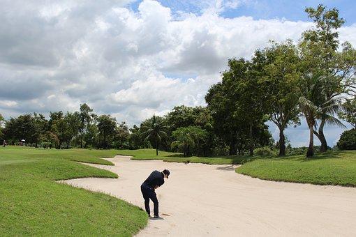 Thailand Golf, Golfer, Sand Trap