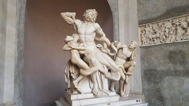 Italy, The Vatican, The Vatican Museum Of Art, Statue