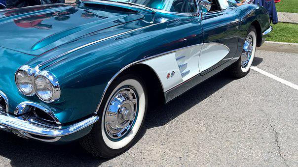 Corvette, Headlights, Turquoise