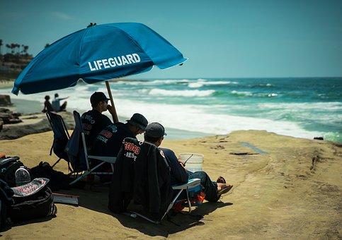 Lifeguard, Beach, San Diego, Ocean, Rescue, Safety