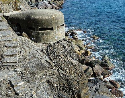 Coast, Bunker, Defense, Sea