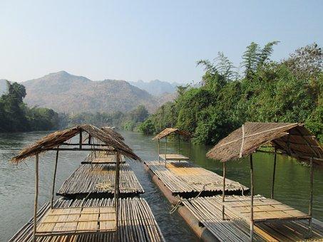 Rafts, Viet Nam, Rivers, Serenity, Cruise, Travel