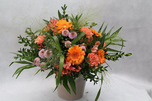 Vase, Flowers, Bouquet, Flower Shop, Decoration