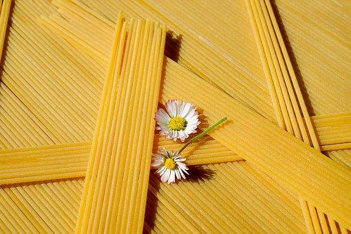 Spaghetti, Noodles, Pasta, Food, Yellow, Raw