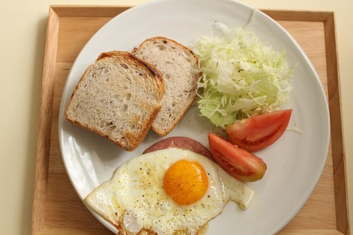 Breakfast, Brown Rice Bread, Fried Egg
