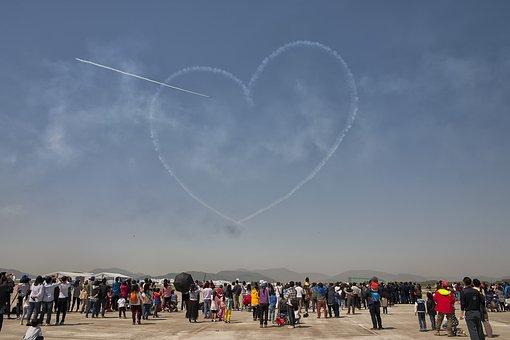 Air Show, Busan, Gimhae, Heart, Love, Black Eagles