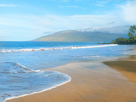 Kamaole Beach, Hawaii, Beach, Pacific Ocean, Ocean