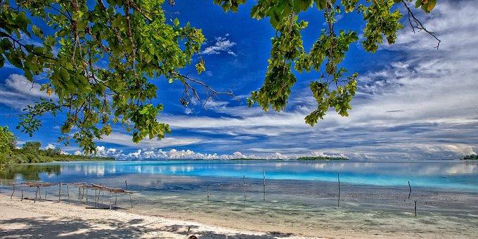 An Island Far Away Landscape, Tropical, Lagoon