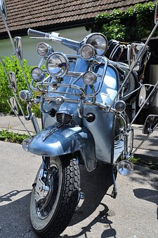 Motor Scooter, Vespa, Roller, Vehicle, Locomotion