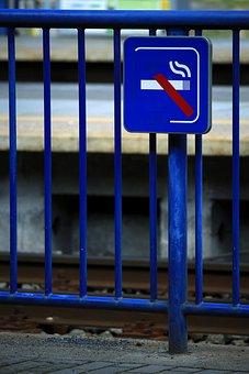 Non Smoking, Platform, Protection Of Non-smokers, Blue