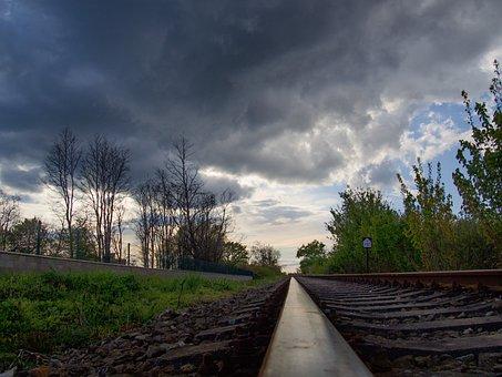 Track, Storm, Peace, A Straight Line, Railway, Ties