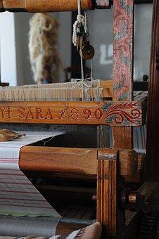 Loom, Homespun, Textile, Folk, Sárközi, Old, Ornament