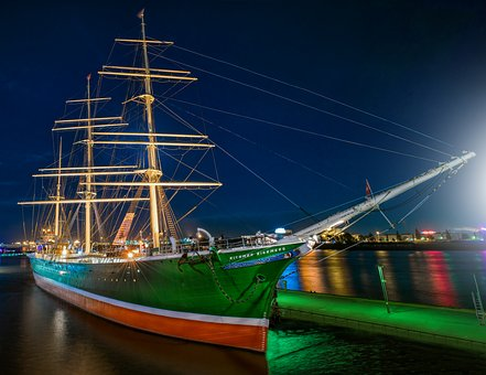 Rickmer Rickmers, Ship, Hamburg, Port, Museum Ship