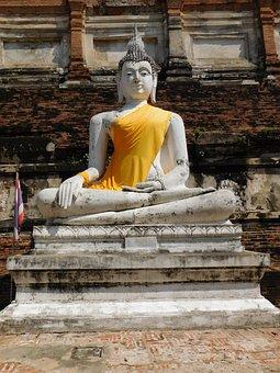 Buddha, Ayutthaya, Steinbuddha, Buddhism, Asia