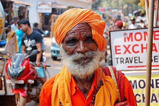 Beard, The Old Man, Turban, India, Indian, Street