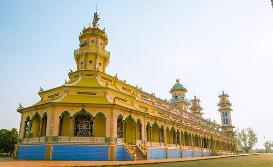 Cao Dai, Pagoda, Temple, Cao Dai Temple, Tay Ninh