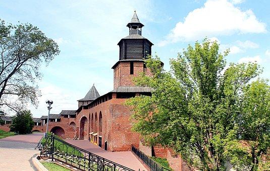 Nizhniy Novgorod, The Kremlin, Tower, Nizhny Novgorod