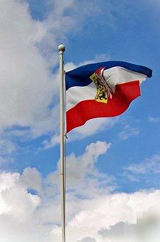 Flag, Schleswig -holstein, Banner, Tricolor