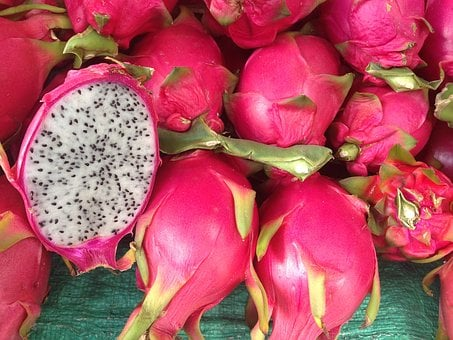 Dragonfruit, Fruit, Dragon, Red, Vegetables, Organic