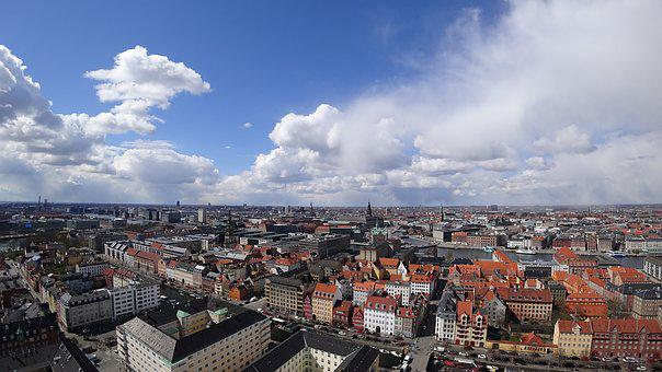 Copenhagen, Vista, Landscape, Church, Vor Frelsers
